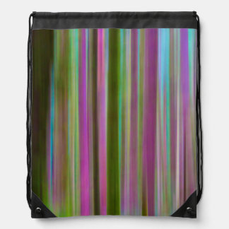 Abstract of Hoh Rain Forest at Dusk | Washington Drawstring Bag