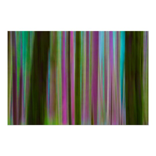 Abstract of Hoh Rain Forest at Dusk | Washington Poster
