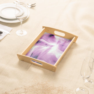 Abstract Of The Iris Serving Tray
