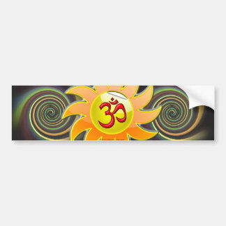 ABSTRACT OM BUMPER STICKERS