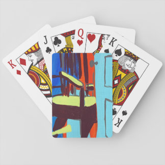 abstract open door playing cards