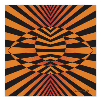 Abstract optical illusion art poster
