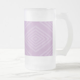 Abstract, optical illusion pattern design on many 16 oz frosted glass beer mug