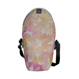 Abstract Orange and Pink Watercolor Gifts Courier Bag