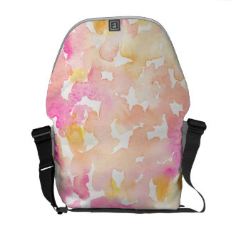 Abstract Orange and Pink Watercolor Gifts Courier Bags
