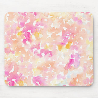 Abstract Orange and Pink Watercolor Gifts Mouse Pad
