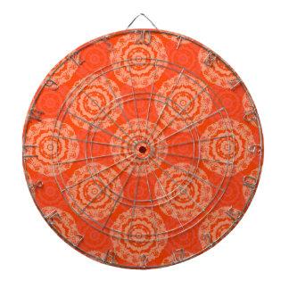 Abstract Orange Dartboard
