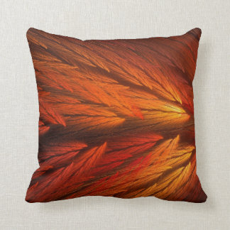 Abstract Orange Feather Fractal Pillow