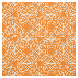 Abstract orange geometric pattern fabric