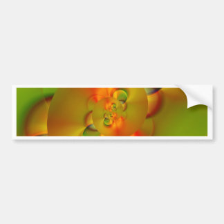 abstract orange green created by Tutti Bumper Sticker