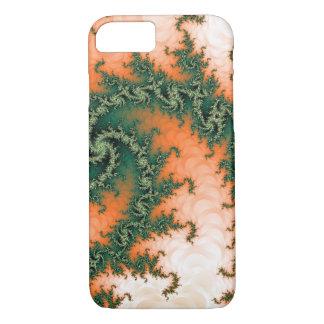 Abstract Orange Green Swirl iPhone 7 Case