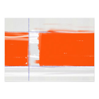 Abstract Orange Custom Announcement