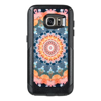 Abstract Orange Mandala OtterBox Samsung Galaxy S7 Case
