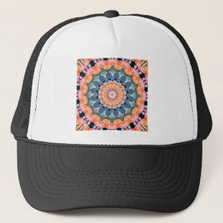 Abstract Orange Mandala Trucker Hat