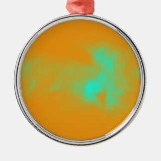 Abstract Orange Nebulla with Galactic Cosmic Cloud Metal Ornament