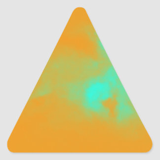 Abstract Orange Nebulla with Galactic Cosmic Cloud Triangle Sticker