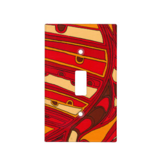 Abstract Orange Panels Light Switch Cover