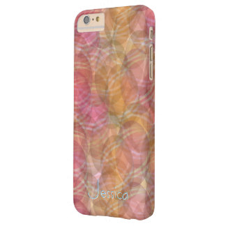 Abstract orange pattern fashion Design Barely There iPhone 6 Plus Case