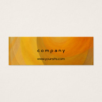 Abstract Orange Popsicles 2 Mini Business Card