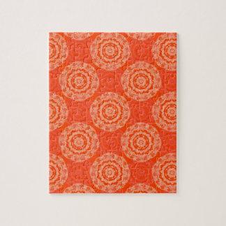Abstract Orange Puzzle