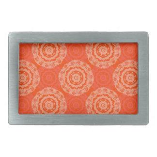 Abstract Orange Rectangular Belt Buckles