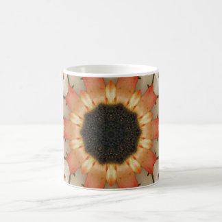 Abstract Orange Sunflower Mug