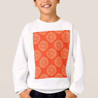 Abstract Orange Sweatshirt