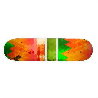 Abstract Orange Triangles Skate Deck