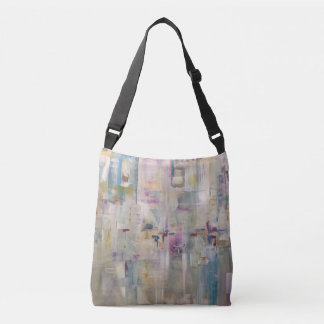 Abstract Orchid Garden with light summer colors Crossbody Bag