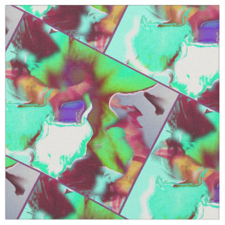 Abstract Orchid Pattern variant #2 Fabric