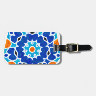 Abstract oriental Design Luggage Tag