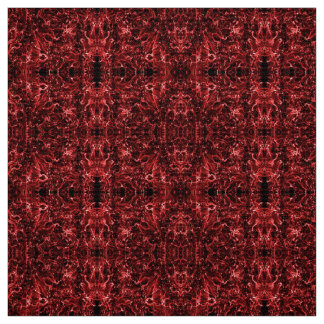 Abstract oriental red pattern, fabric