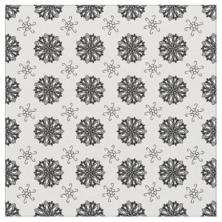 Abstract ornamental pattern design with mandalas fabric