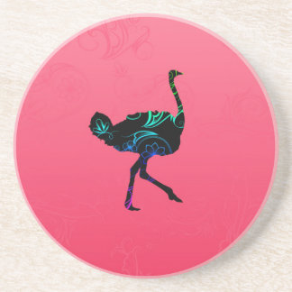 Abstract Ostrich Coaster