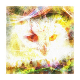 Abstract owl head painting canvas print