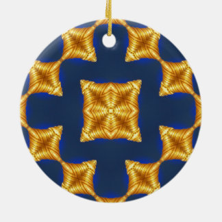 Abstract Pagoda Pattern Round Ceramic Ornament