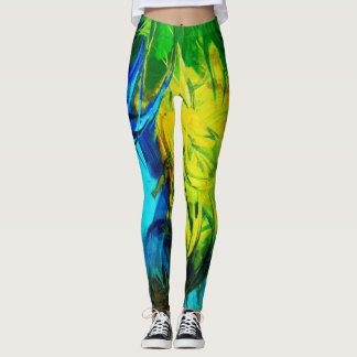 Abstract Paint #1(Neon) Leggings