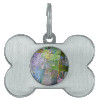 abstract paint background pet tag