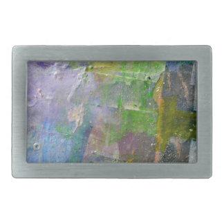abstract paint background rectangular belt buckle