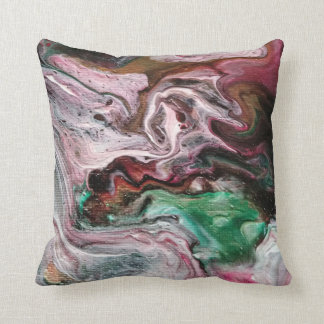 Abstract Paint effect Throw Pillow
