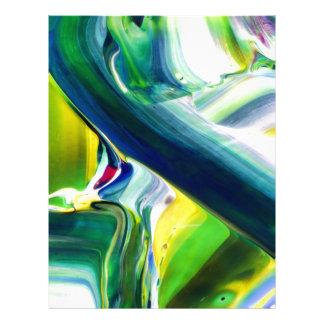 abstract paint letterhead