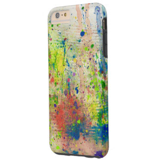 Abstract Paint Splattered Tough iPhone 6 Plus Case