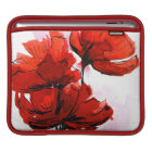Abstract painted floral background 2 iPad sleeve