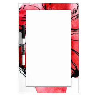 Abstract painted floral background 4 dry erase board