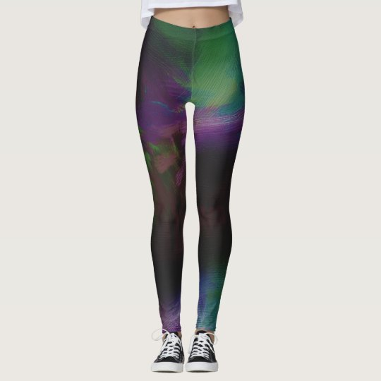 Abstract Painted Leggings