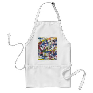 Abstract Painted Standard Apron