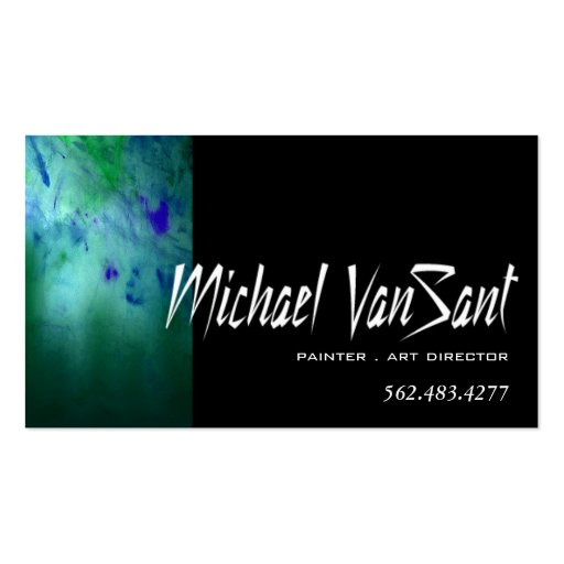 """Abstract"" Painter, Graphic Artist, Art Director Business Cards"