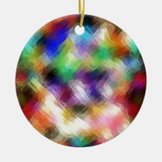Abstract Painterly Spectrum Ceramic Ornament