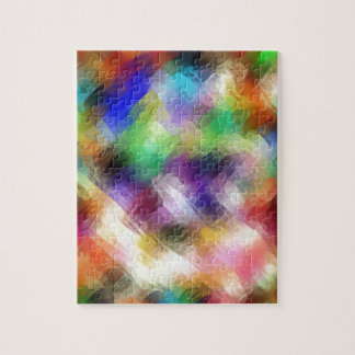 Abstract Painterly Spectrum Jigsaw Puzzle