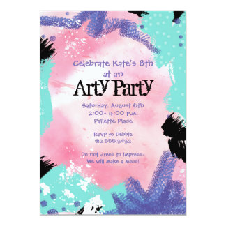 Abstract Painting Art Party Invite
